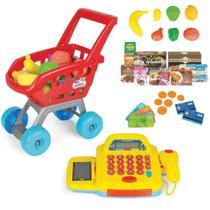 Caixa Registradora Infantil C/ Carrinho Mercado + Acessórios - Homeplay