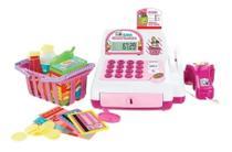 Caixa Registradora Infantil com Acessórios Luz e Som Cor: Rosa - Dm Toys