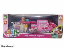 Caixa Registradora Infantil com Acessórios Luz e Som Rosa - toys