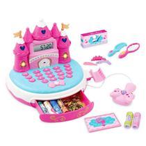 Caixa Registradora Infantil Com Som E Luz Princesas Rosa - Dm Toys