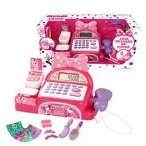 Caixa Registradora Infantil Loja De Laços Da Minnie Multikids -