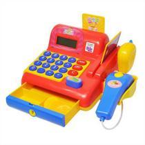 Caixa Registradora Infantil Vermelha Hora das Compras C/ Som e Luz Dm Toys -