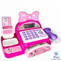 Caixa Registradora Rosa Brinquedo Infantil Loja De Laços Da Minnie - Multikidis - Multikids