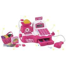 Caixa Registradora Rosa com Som e Luz - Wellmix