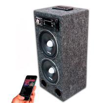 """Caixa Residencial Radio Bluetooth + Falante 7driver 6"""" Pol + Modulo Taramps - Oestesom"""