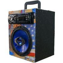 Caixa Residencial Radio Bluetooth Usb + Falante 6 Hurricane - Oestesom