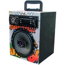 Caixa Residencial Radio Bluetooth Usb + Falante 6 Pioneer - Oestesom
