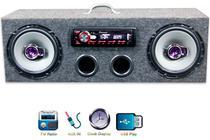 Caixa Residencial Radio Pioneer + Alto Falante 6 Traxial - Oestesom