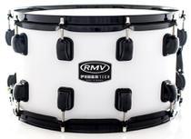 Caixa RMV FiberTech Silky Branca 14x8 Casco Híbrido com Aros Inoxidáveis 1,7mm (Exclusiva) - Rmv Drums