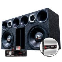 Caixa Som 2 Triton 620 Radio Bluetooth Usb Modulo Taramps -