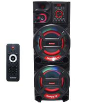 Caixa Som Amplificada Bluetooth 1500W Rms Woofer Mp3 Fm Usb Led Tws Bivolt ACA 1501 NEW X - Amvox