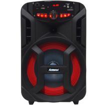 Caixa Som Amplificada Portátil Bluetooth 180W Rms Mp3 Fm Usb Led Bateria Tws Amvox ACA 188 GIGANTE -