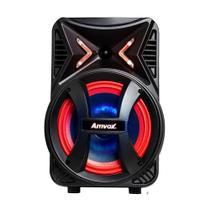 Caixa Som Amplificada Portátil Bluetooth 180W Rms Mp3 Fm Usb Led Bateria Tws Amvox ACA 189 MONTANHA -