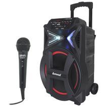 Caixa Som Amplificada Portátil Bluetooth 400W Rms Mp3 Usb Led Tws Microfone ACA 400 Strondo - Amvox/Knup