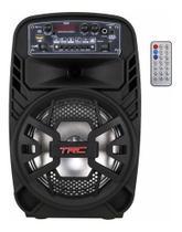 Caixa Som Bluetooth Amplificada 100w Portátil Led Falante 8 - Trc