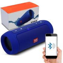 Caixa Som Bluetooth Charge 2+ Plus Shutt  Wireless Portable MP3 USB Micro SD P2 15W Azul