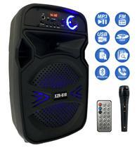 Caixa Som Bluetooth Portátil Amplificada Mp3 Fm Usb Sd Microfone Controle - Durawell