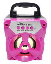 Caixa som bluetooth rosa caixinha de som radio blueto rosa - Grasep