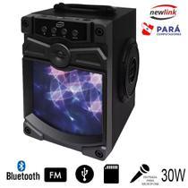 Caixa Som Bluetooth Usb/Sd/Radio Fm/Microfone Speaker 30w Preto Newlink Sp111 -