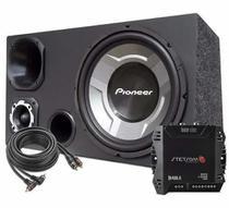 Caixa Som Carro Trio 12 Sub Pioneer + Módulo Stetsom Ir400 -