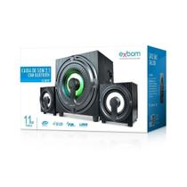 Caixa Som Home Theater Pc Amplificada 2.1 Bluetooth Mp3 Usb - Exbom