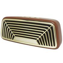 Caixa Som Portátil Bluettooth Retro Vintage Antiga 10W Fm Usb Sd Aux Tws Bass Infokit VC-M270BT -