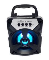 Caixa som preta bluetooth portatil sd rádio fm usb blutufe - Grasep