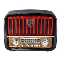 Caixa Som Rádio Retrô Vintage Mp3 Fm Am Bluetooth Portátil - Inova