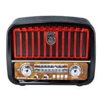Caixa Som Rádio Retrô Vintage Mp3 Fm Am Com Bluetooth Portátil 2257 - Ecooda