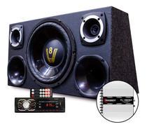 Caixa Som Trio Dupla Completa Radio Bluetooth Taramps Tl1500 - Oestesom