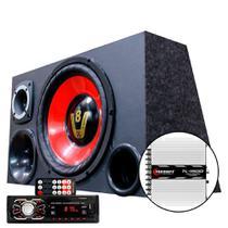 Caixa Som Trio Falante 12 Radio Bluetooth Usb Modulo Taramps - Oestesom