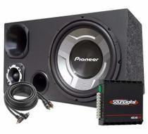 Caixa Som Trio Gravão 12 Sub Pioneer + Módulo Soundigital -