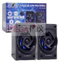 Caixa Som X-cell Para Pc/notebook P C/ Led Xc-cm-06 -
