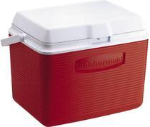 Caixa Térmica 23 Litros 24 QT com Alça Articulada Vermelha - Rubbermaid -