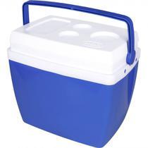 Caixa Termica 26 Litros Azul com Alca  Mor -