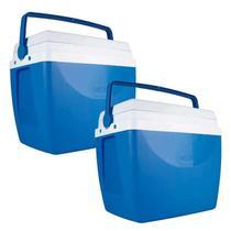 Caixa Térmica 34 Litros Azul com 2 Unidades MOR -