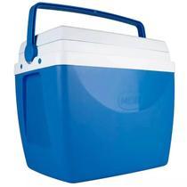 Caixa Térmica 34 Litros Azul com Alça Mor -