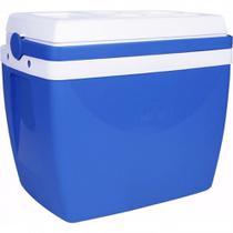 Caixa Termica 34 Litros Azul com Alca Mor -