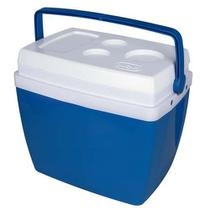 Caixa Térmica 34 Litros Azul Com Alça - Mor -