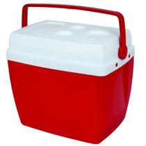Caixa Térmica 34 Litros Vermelha com Alça e Porta Copos 25108162 - Mor. - Met. Mor