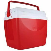 Caixa Térmica 34 Litros Vermelha com Alça Mor -