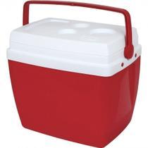 Caixa Termica 34 Litros Vermelha com Alca  Mor -