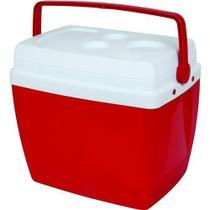 Caixa Térmica 34 Litros Vermelha Com Alça - Mor -