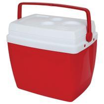 Caixa Térmica Cooler 34 Litros Mor Vermelho -