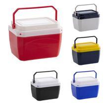 Caixa termica cooler 6 litros 9 latas com alça coloridas - Paramount