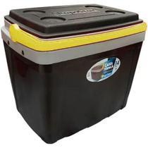 Caixa Térmica Cooler Cinza C/ Alça - 34 Litros Cabe 40 Latas - Alphacomprass -