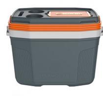 Caixa térmica cooler suv 20l cinza com laranja termolar 20 l -