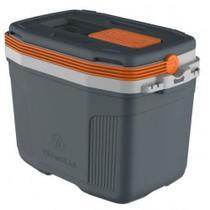 Caixa térmica cooler suv 32l cinza com laranja termolar 32 l -