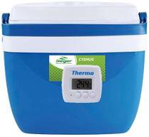 Caixa térmica de 32 litros AZUL com termômetro digital máximo e minimo - Mor