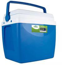 Caixa térmica de 34 litros AZUL com termômetro digital máximo e minimo - Mor